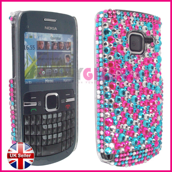 buy popular 61a9a 831ef Index of /ebay/images/diamond cases/nokia/c3/pink & turquise dots
