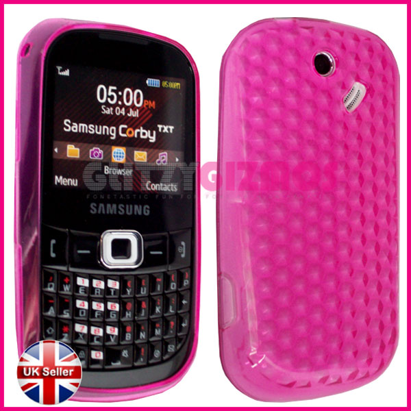 Ebay/images/gel cases/samsung/b3210 corby txt/hot pink diamond effect